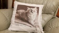 YOUR OWN PHOTO / IMAGE FABULOUS FUR TEXTURED SEQUIN CUSHION PERSONALISE FREE