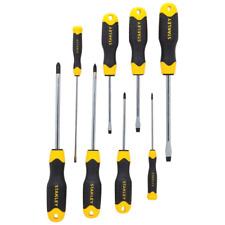 Stanley Screwdriver Set Cushion Grip Magnetic Tip Multibit Hand Tool 8-Piece New