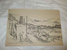 um 1939 Organisation Todt - O.T. Baustelle Bahnübergang mit Lager ( Eisenbahn )