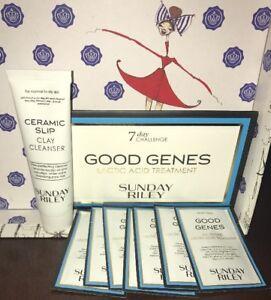 7X Sunday Riley Good Genes Lactic Acid Treatment .03oz & Ceramic Slip Clay 1 oz
