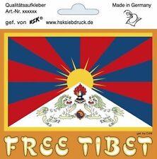 Aufkleber Sticker 11,5 x 9,5 cm wetterfest Free Tibet 303566