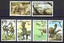 Animaux Préhistoriques St Thomas et Prince (22) série compl. 5 timbres oblitérés