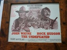 Framed Original Quality frame press sheet John wayne rock hudson Undefeated