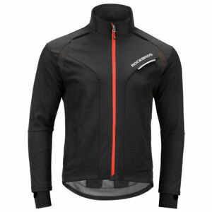 ROCKBROS Fahrradjacke Herren Winter Jacke 3D Gepolstert Jacke Softshell M-4XL