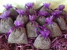12 Fragrant  Dried French Lavender Buds Sachets Lavender Organza Bags FREE SHIP