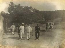 ALGERIE PHOTO GF BOGHAR CAMP INTERNEMENT SUZZONI GENERAL GENDARMERIE VERS 1905