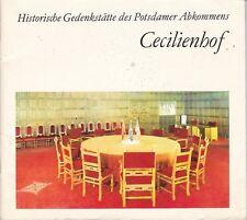 Chronik = Historische Gedenkstätte des Potsdamer Abkommens Cecilienhof, DDR 1974