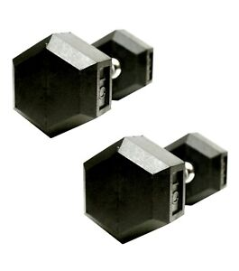 Weider 15 lb Dumbbell Set of 2 (30 lbs Total) Coated Hex Weight Training NWT