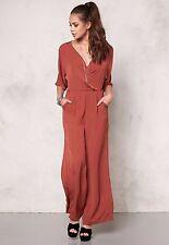 New Ladies Vero Moda Joan Jumpsuit Rust - Size UK L