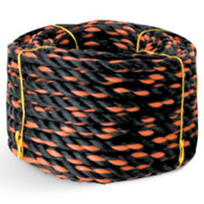 """CWC Polypropylene Truck Rope - 3/8"""" x 50 ft. Blk W/Org Tracer (Pack of 12 rolls)"""