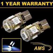 2x W5w T10 501 Canbus Error Free Xenon Blanco 5 LED lado Repetidor bombillas sr101301
