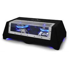 Sono Auto Subwoofer Voiture Caisson Basses Double Jeu Lumière LED Bleu 2 x 600 W