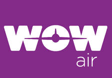 "WOW Air Airlines Logo 3.25""x2.25"" Handmade Fridge Magnet (LM14140)"