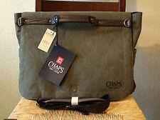 NWT CHAPS Elmhurst Business Messenger Canvas Laptop Shoulder Bag Green Olive