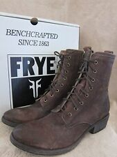 FRYE Carson Lug Dark Brown Lace Up Leather Boots Shoes US 9.5 M EUR 40.5 NWB