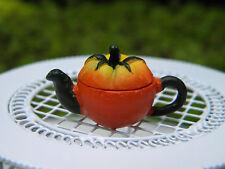 Miniature Dollhouse FAIRY GARDEN Accessories ~ Tomato Teapot ~ NEW