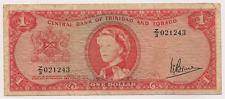 1964 CentraL Bank of Trinidad and Tobago ~ $1 Bank Note ~J.E.Bruce