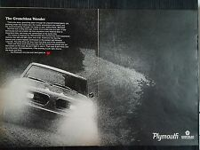 Vintage 1967 Plymouth Barracuda 2-Page Original Ad - Free Shipping