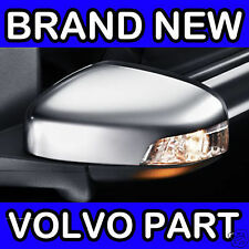 VOLVO S40 V50 (10-12) (Matt Espejo Cromo) Mano Izquierda Puerta Trasera Cubierta/carcasa