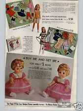 1968 PAPER AD Doll Tutti Todd Barbie Remco Winking Heidi Buffy Mattel Beasley