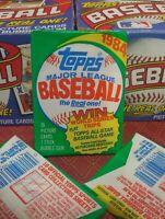 1984 Topps Baseball Wax Pack UNOPENED Fresh Box Mattingly, Strawberry, Franco RC