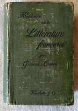 Histoire de La littérature Francaise Par Gustave Lanson from 1896
