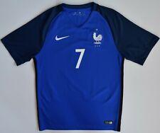 Jersey #7 Griezmann France National Team Nike 2016 T-shirt Football Blue Mens S