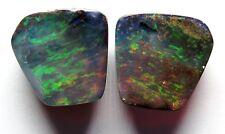 Queensland Boulder Opal 19.70ct Pair Australian Natural Stone