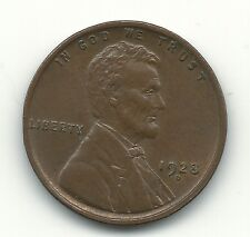 NICE HIGH GRADE BROWN UNC 1928 D LINCOLN CENT-OLD US COIN-APR303