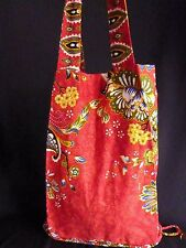 Fair Trade Small Red tote Messenger Bags Handmade in Cambodia!!