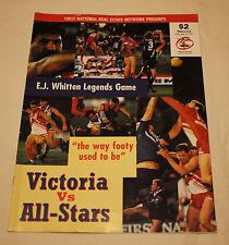 1997 AFL E.J Whitten Legends Game Victoria vs All Stars Record