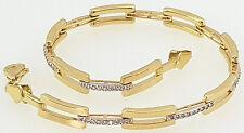585 14k Gelbgold Armband Zirkonia Damen Armreif Gold schmuck kette Armkette 19cm