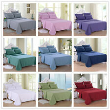 Best Egyptian Cotton 4 Piece Bed Sheet Set Solid Color & Size Bedding Sheet