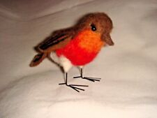 New Pin Felt Needle Felted Robin Collectible Miniature Wild Life Animal Bird