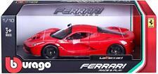 Bburago Ferrari Race & Play La Ferrari Diecast Model Sports Car  1:18- Red