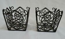 2 Southern Living At Home Rosedale Small Square Candle or Plant Holder Baskets