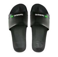 Havaianas Slide Brasil Flip Flops (Black)
