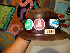 Msa - Mining Helmet Vintage Antique original stickers from the mine . rare nice.