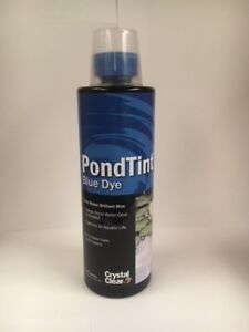 Crystal Clear Pond Tint Blue Dye for Ponds 473 ml Treats 16000 Gallons