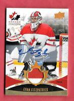 2016-17 Evan Fitzpatrick Upper Deck Team Canada Juniors Auto Patch 019/199