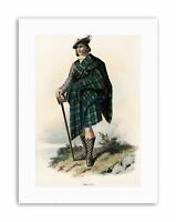 Tartan Clan MacNeil2 Silver 925 Lapel Pin Badge