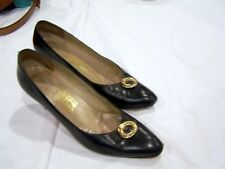 Salvatore Ferragamo navy blue shoes/pumps/heels, sz. 9.5Aa