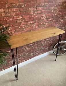 Solid Wood Wall Table / Breakfast Bar. Industrial rustic furniture hairpin legs