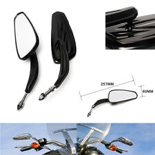 Black Universal Rear View Mirrors For Harley Motorcycle Cruiser Chopper Custom