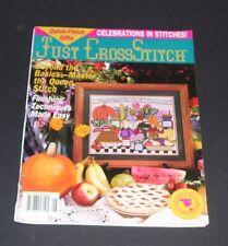 JUST CROSS STITCH COUNTED CROSS STICH PATTERN MAGAZINE BOOK JUNE 1993