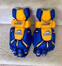 "Hofstra Pride Brine Flight 13"" Lacrosse Gloves Yellow and Blue BRAND NEW"