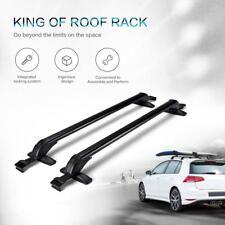Black Aluminum Car Roof Top Rack Rails Cross Bars Carrier Adjustable Universal