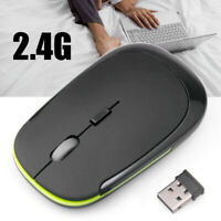 2.4Ghz Mini Wireless Optical Gaming Mouse Mice& USB Receiver For PC Laptop UK rt