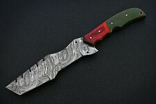 Handmade Damascus Knife With Wood and Macalta handle(04)