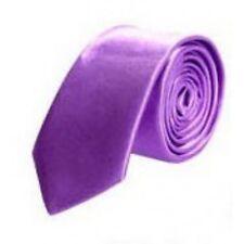 Neck Tie Men's Skinny Purple Lavender Wedding Slim Solid Satin Tie Formal